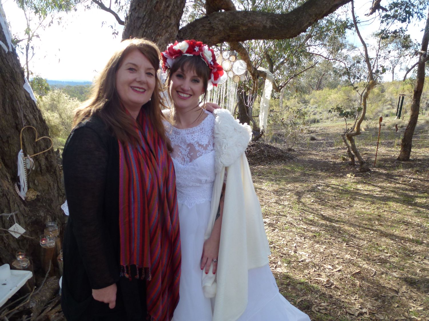 Genevieve Messenger Marriage Celebrant and funeral celebrant of Daylesford, Ballan, and Trentham with bride
